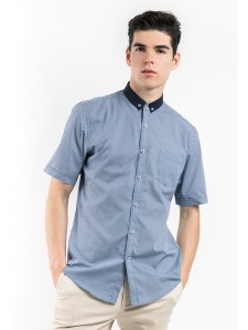 SHORT SLEEVE SHIRT WITH COLLAR COMBINATION