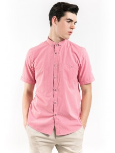 SHORT SLEEVES CHECKED SHIRT WITH BUTTON-DOWN COLLAR