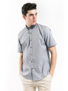 SHORT SLEEVES PRINTED SHIRT WITH BUTTON-DOWN COLLAR