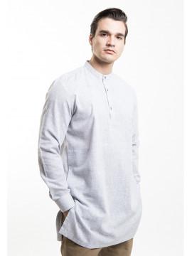 MANLY Baju Koko Regular Fit Gamis Grey