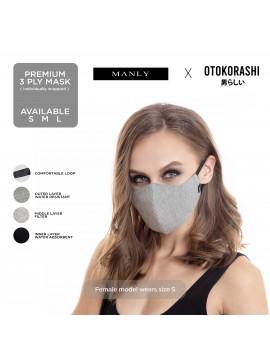 Otokorashi 3ply Face Mask Grey